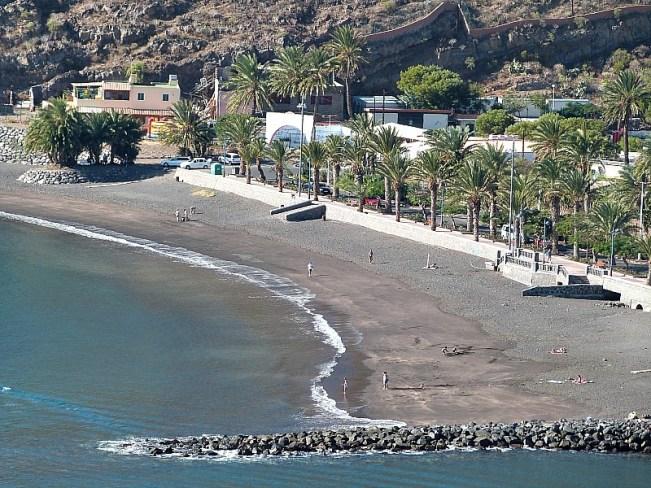 Beach at San Sebastian de la Gomera on La Gomera in the Canary Islands
