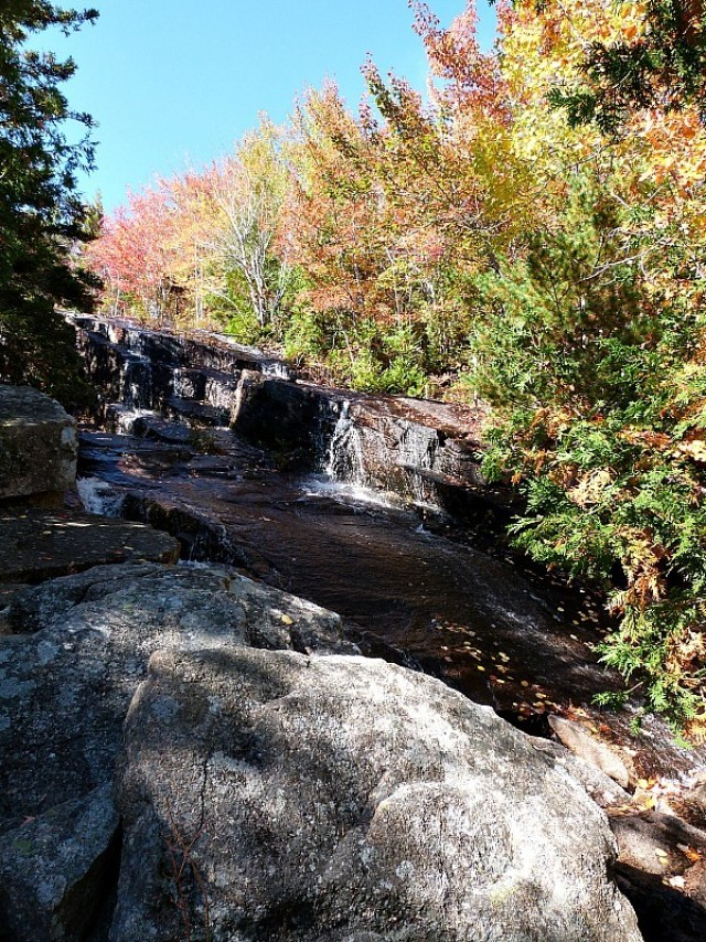 Waterfall in New England - a beautiful sight during fall in North America