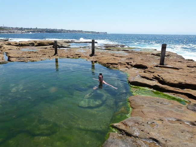 Natural pool on Coogee to Maroubra Beach Walk on Sydney's Eastern Beaches
