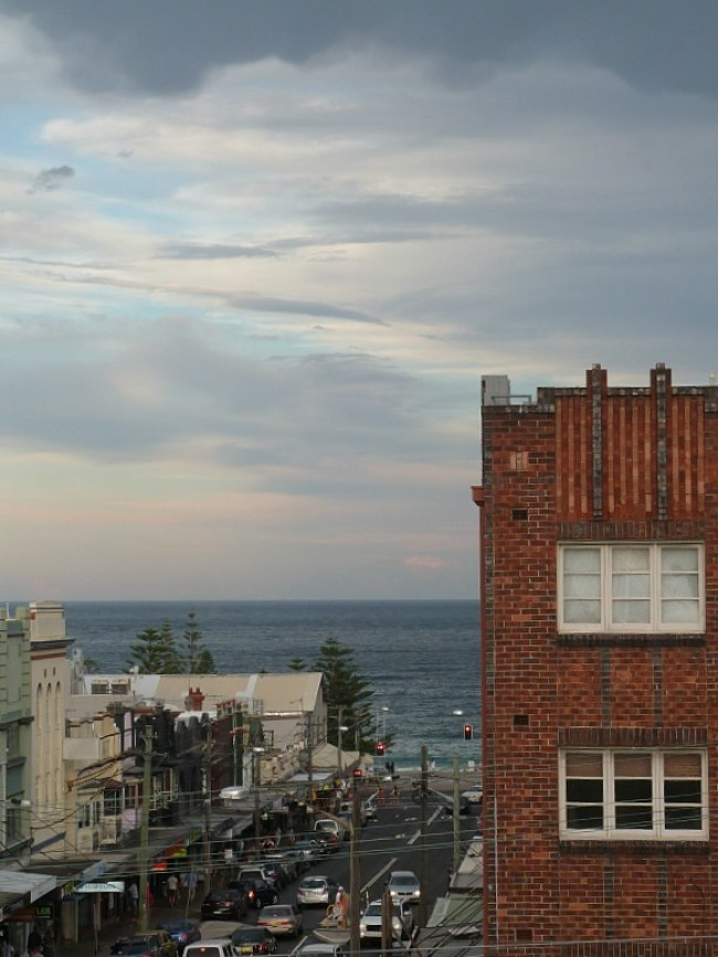 View from our flat in Coogee, in Sydney's Eastern Beaches