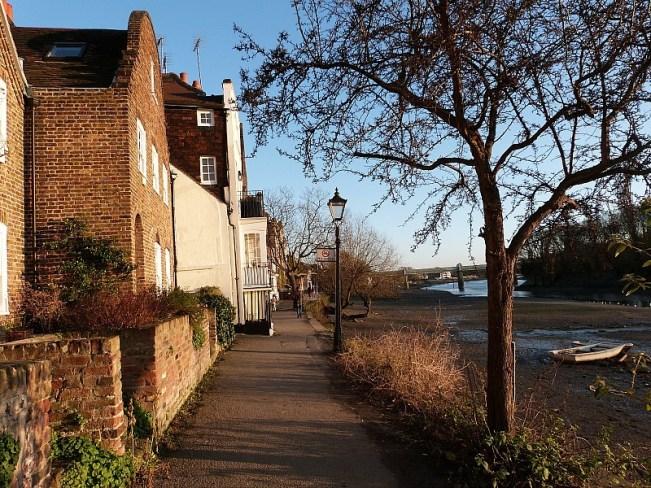 Kew Bridge riverside in Greater London