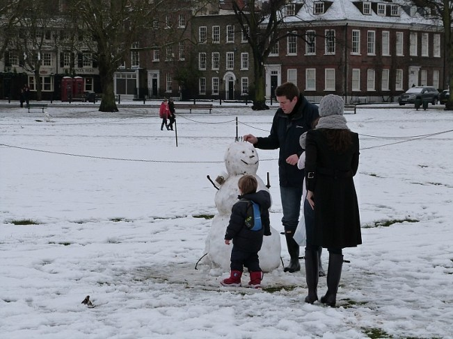 Beautiful Richmond, London in the snow