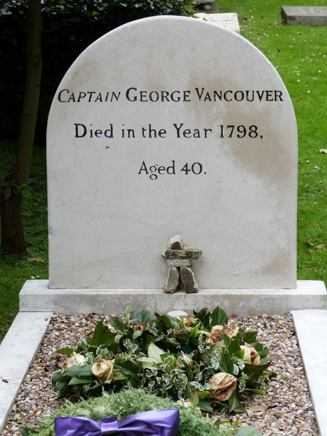 Captain George Vancouver's grave in Ham, Greater London