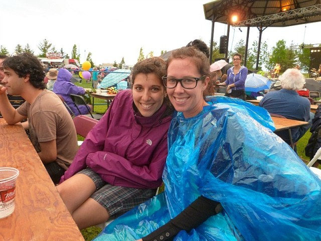 With our Toronto couchsurfing host Anna on our epic Canada on a Budget adventure