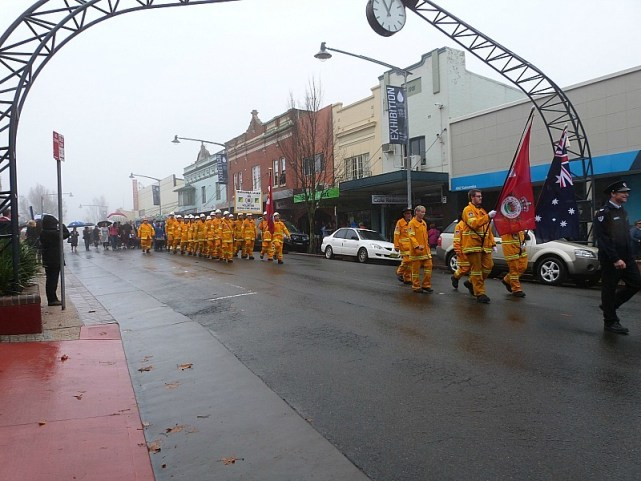 ANZAC Day parade in Katoomba in the Blue Mountains of Australia