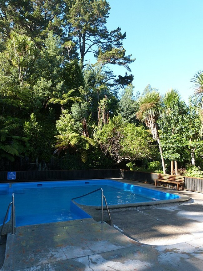 Soaking at Fernland Spa on a visit back home to New Zealand