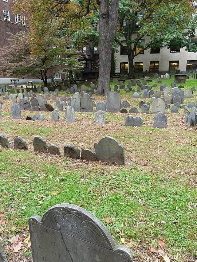 Granary Burial Ground in Boston - one of the best cemeteries to visit around the world