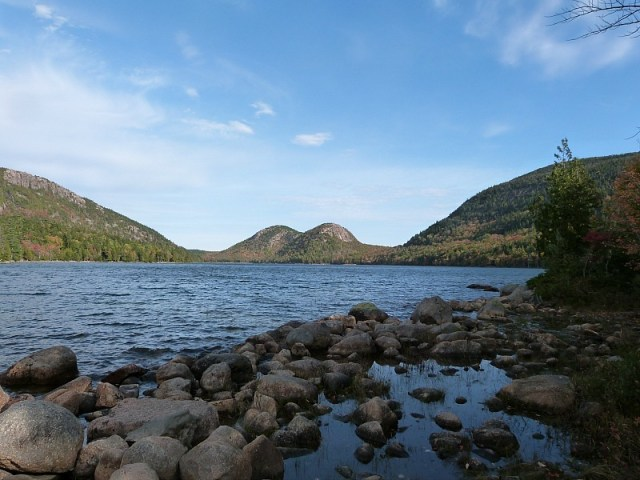 Jordan's Pond in Acadia National Park in Maine