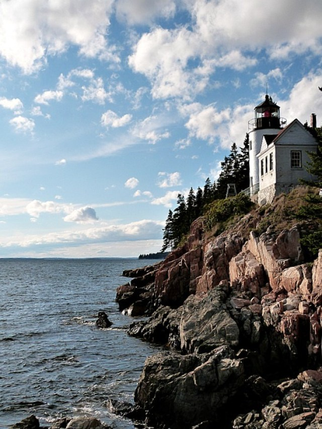Bass Head Lighthouse on Mount Desert Island in Maine