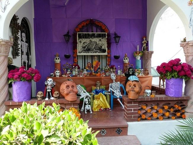 Dia de los Muertos decorations in Mexico