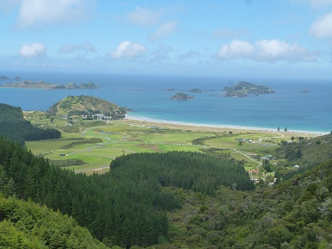 View over Matai Bay in Northland, New Zealand