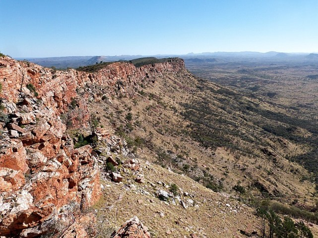 The McDonnell Ranges in Alice Springs, Australia