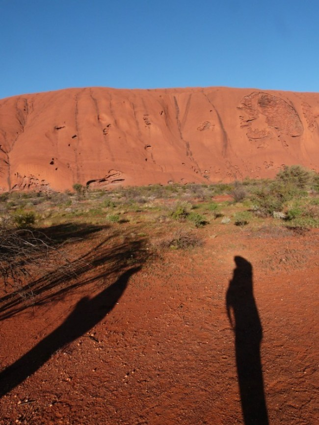 Exploring Uluru in Australia