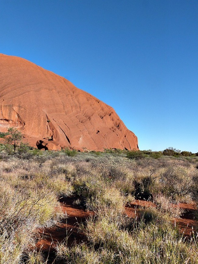 Hiking around Uluru in the Australian Outback was something special