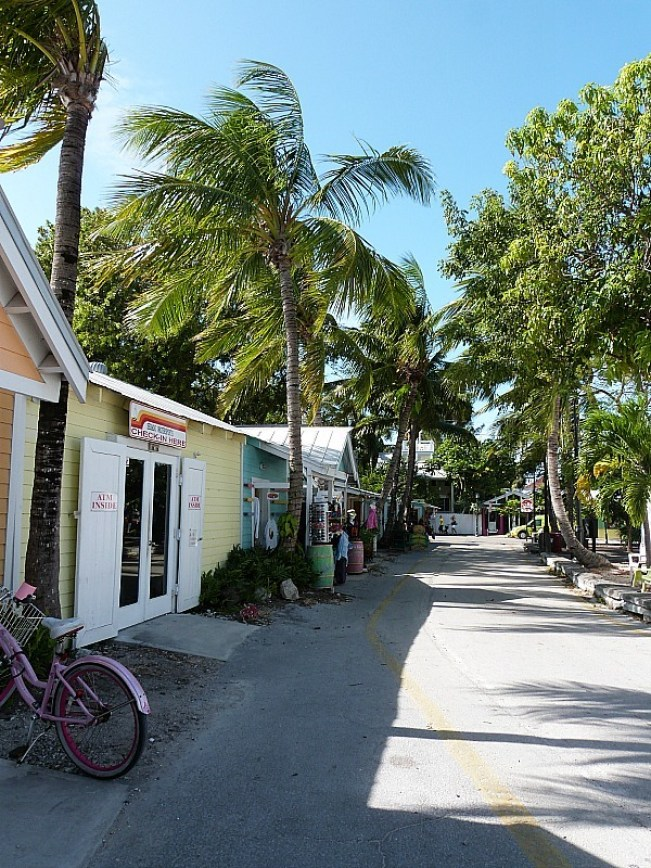Colorful buildings in Key West Florida