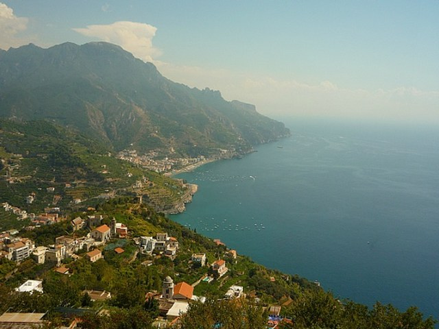 Views from Ravello on the Amalfi Coast of Italy