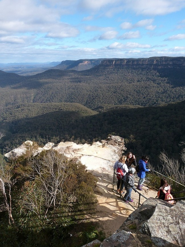Amazing views of the Jamison Valley in the Blue Mountains of Australia