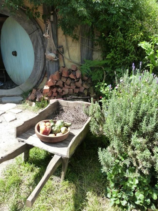 Gardening equipment at Hobbiton New Zealand