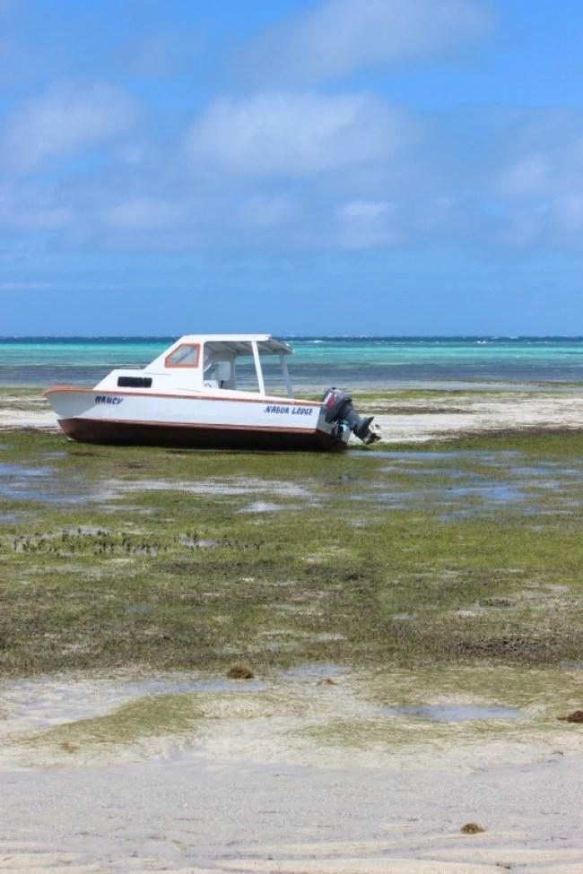 Discovering deserted coastline while hiking the Yasawa Islands of Fiji