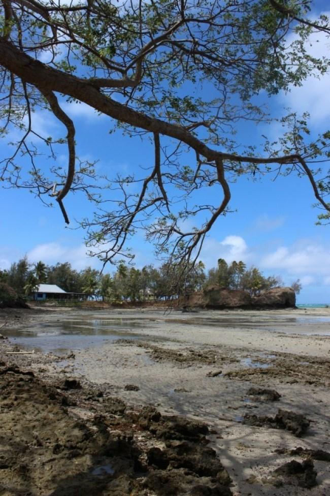 Exploring deserted coastline while hiking the Yasawa Islands of Fiji