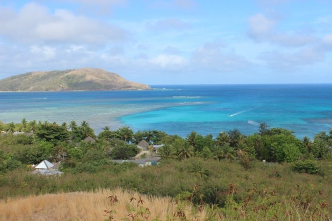Incredible view while hiking on Nacula Island in the Yasawa Islands of Fiji