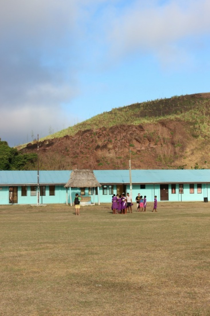 Visiting the village school on a traditional Fijian village visit in the Yasawa Islands