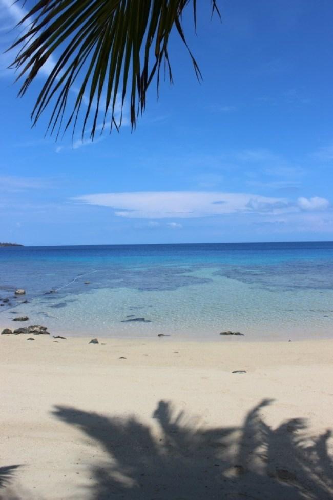 Beautiful beach on Barefoot Island in the Yasawa Islands of Fiji
