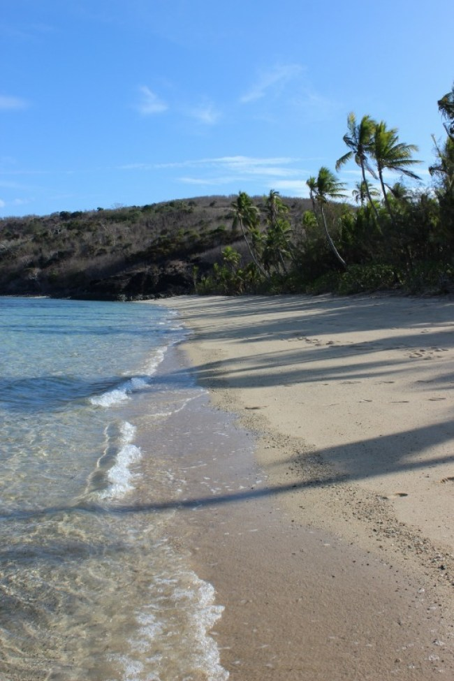 Sunrise Beach on Barefoot Island in Fiji