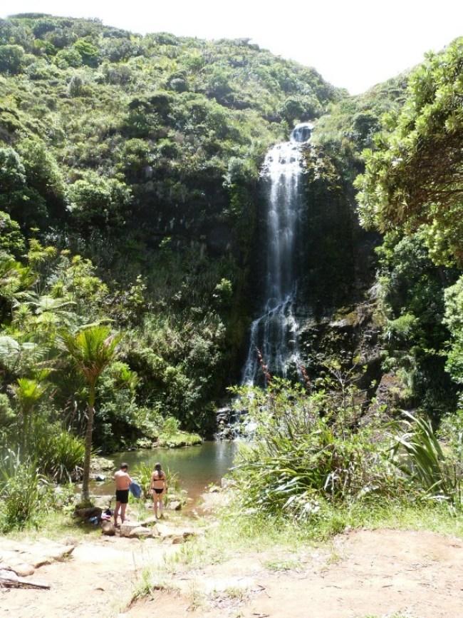 Karekare Falls on the Hillary Trail in New Zealand