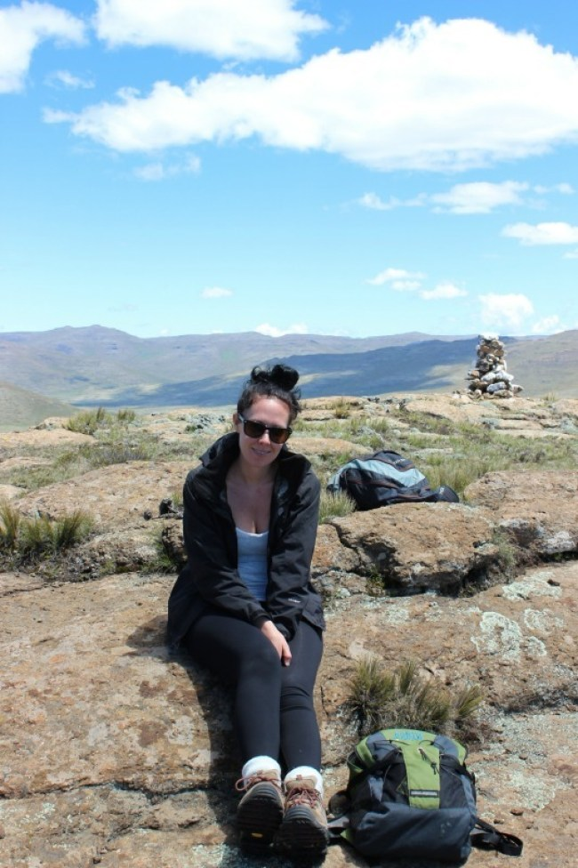 Hiking around Sani Top in Lesotho