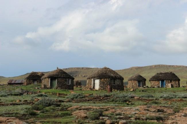Rondhovel huts in Sani Top, Lesotho