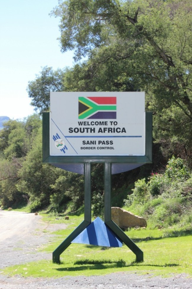 Driving the Sani Pass from Lesotho to South Africa
