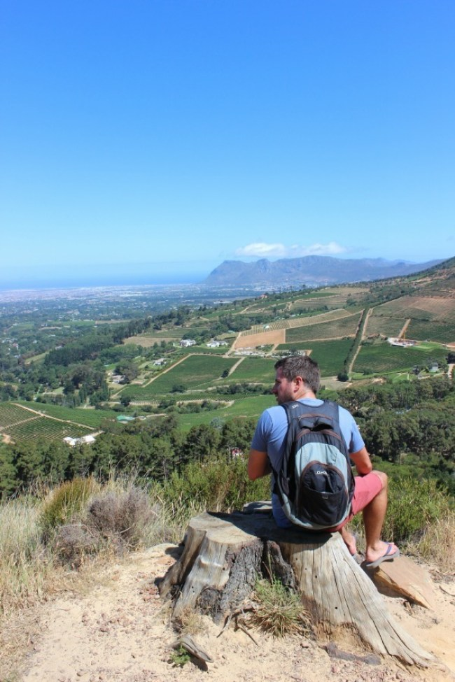 Great views from the hike above Constantia Nek in Cape Town's Mountains