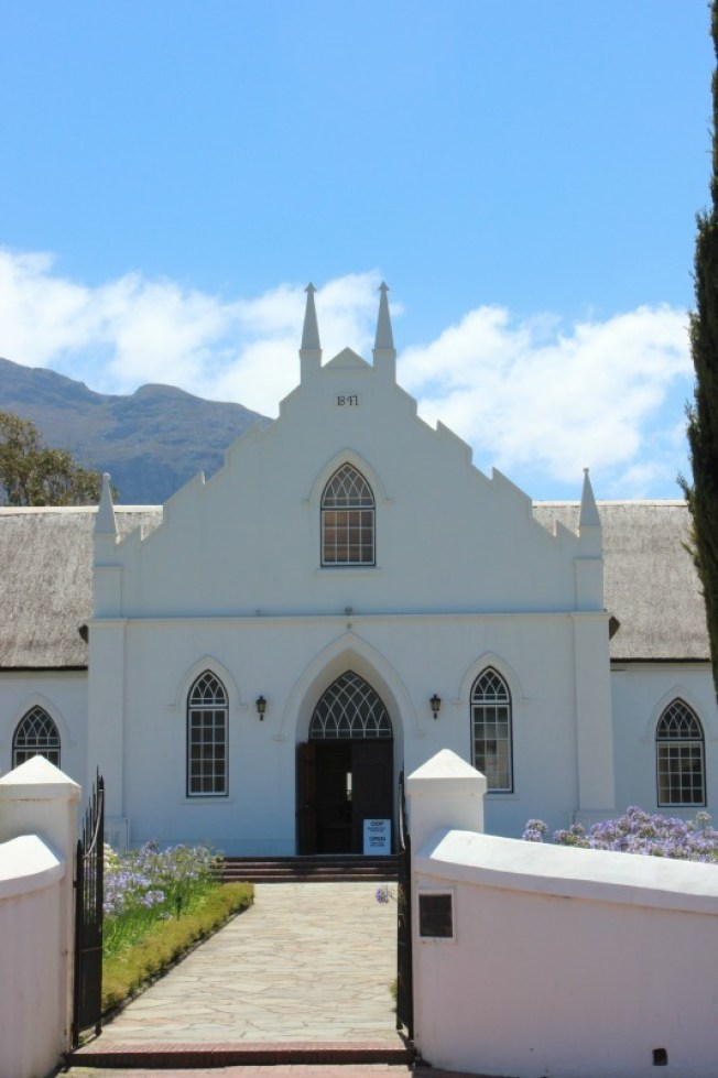 Beautiful Franschhoek in the Cape Winelands near Cape Town