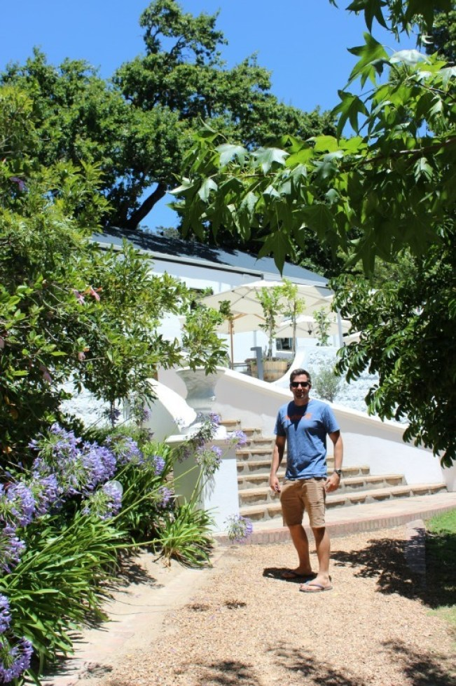 Entering Mont Rochelle Winery in the Cape Winelands