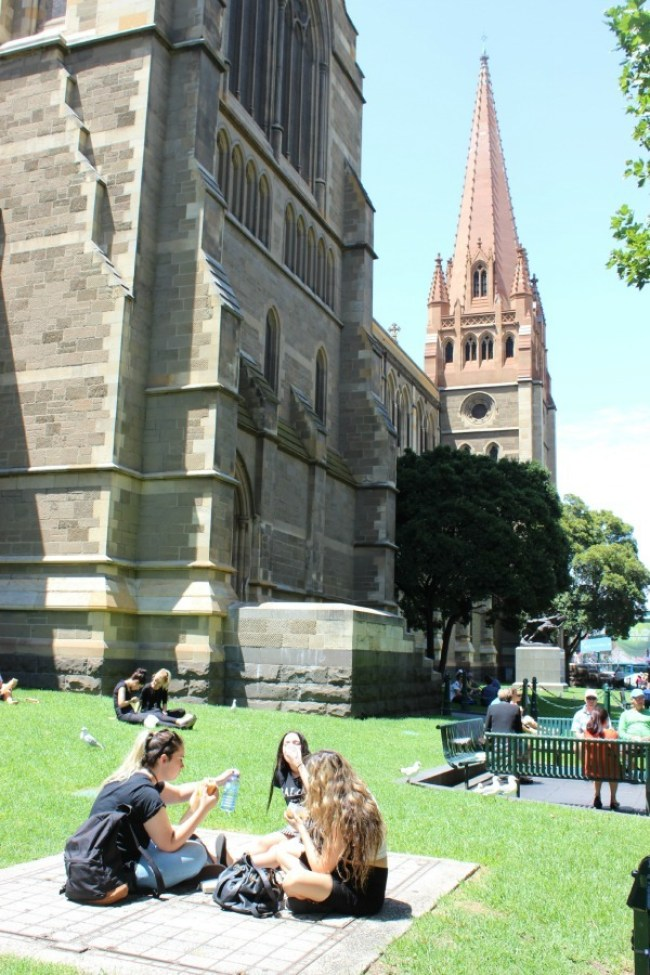 Exploring the historic buildings downtown in Melbourne