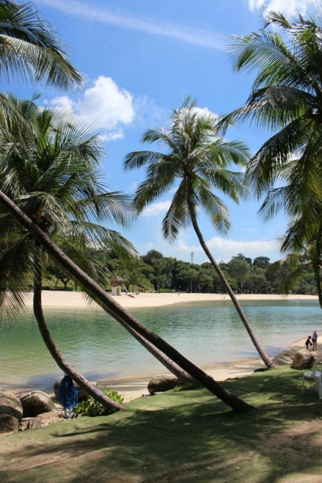 Palawan Beach on Sentosa Island in Singapore