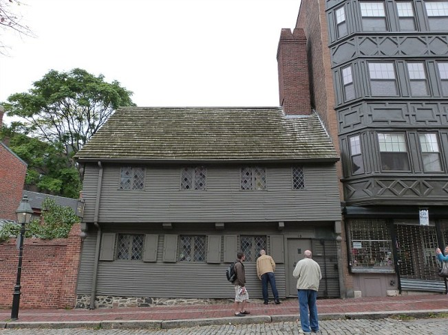 Visiting Paul Revere's house during a fall trip to Boston