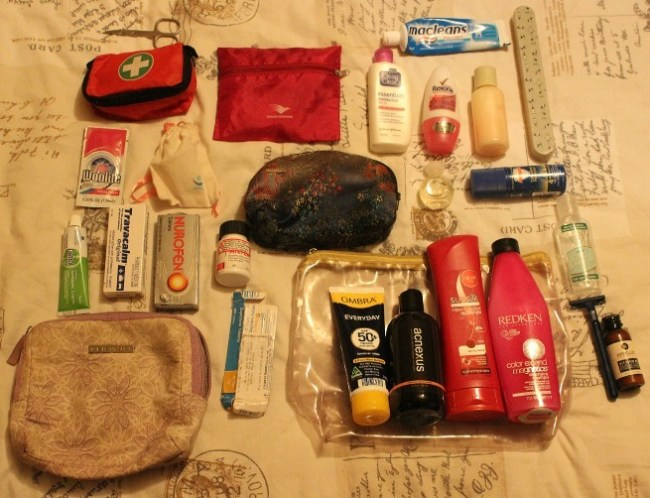Toiletries - part of my Summer Packing List for three months in North America