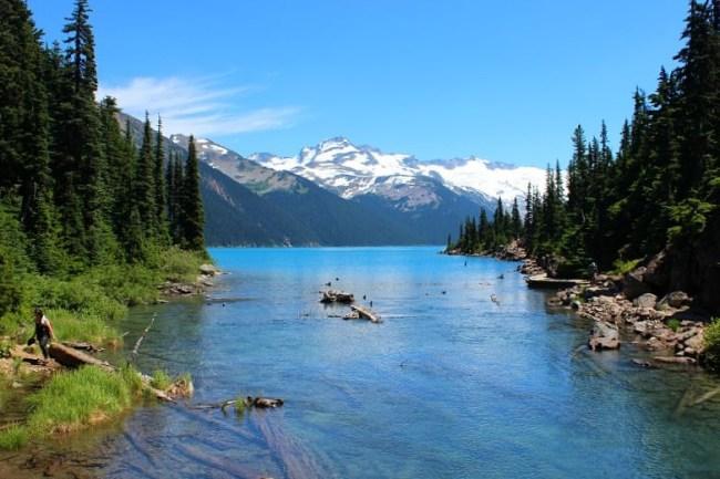 Beautiful Garibaldi Lake, in the mountains near Vancouver