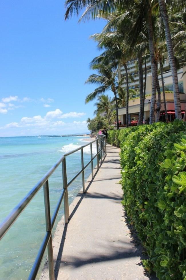 Sheraton boardwalk in Waikiki, Hawaii