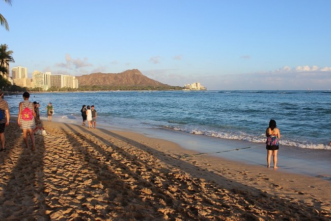 Sunset at Fort De Russy in Waikiki