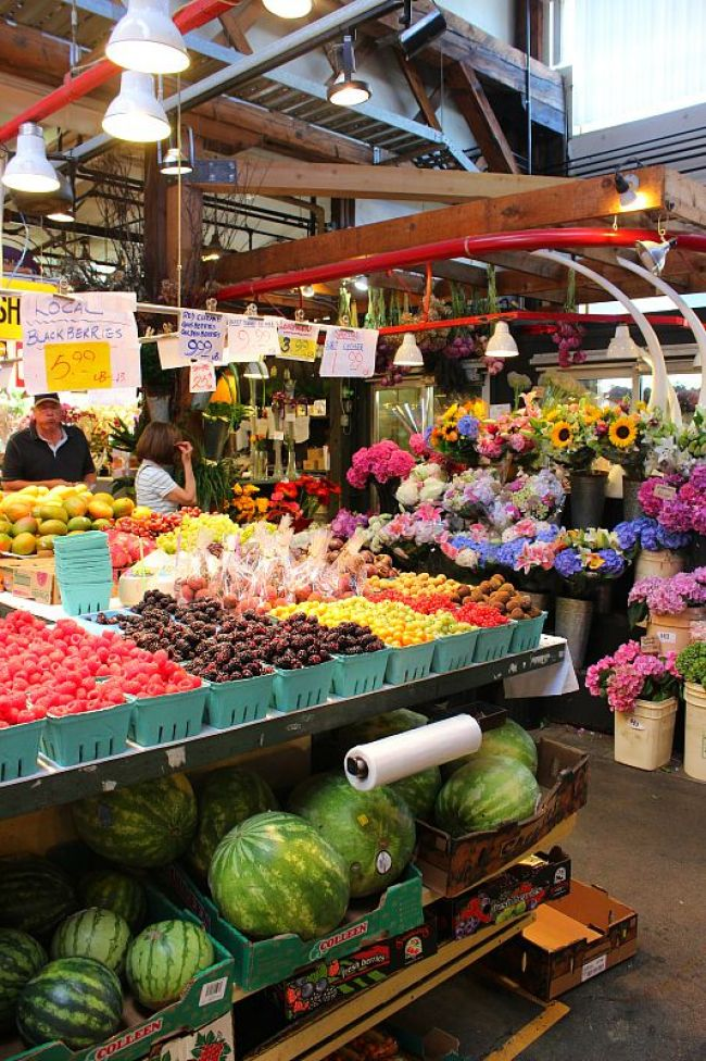 A morning out at Granville Island Market during summer in Vancouver