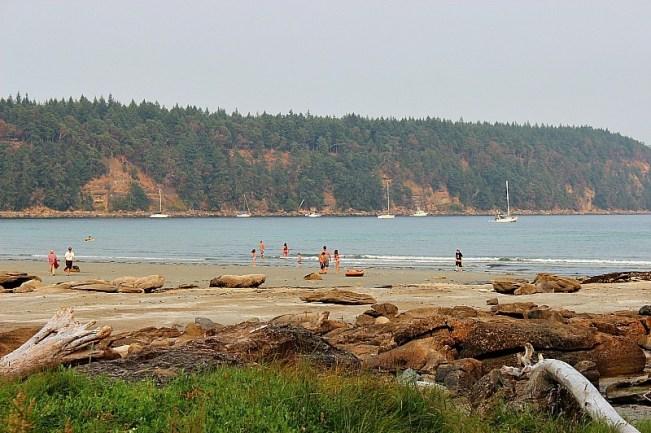 Tribune Bay Beach on Hornby Island, Canada