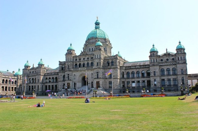 British Columbia Parliament in Victoria, Canada