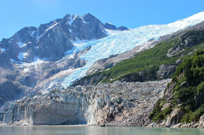 Glacier in Northwestern Fjord in Kenai Fjords National Park, Alaska