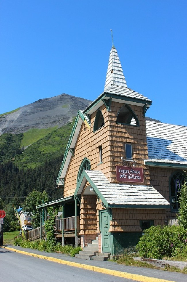Resurrection Cafe and Gallery in Seward Alaska