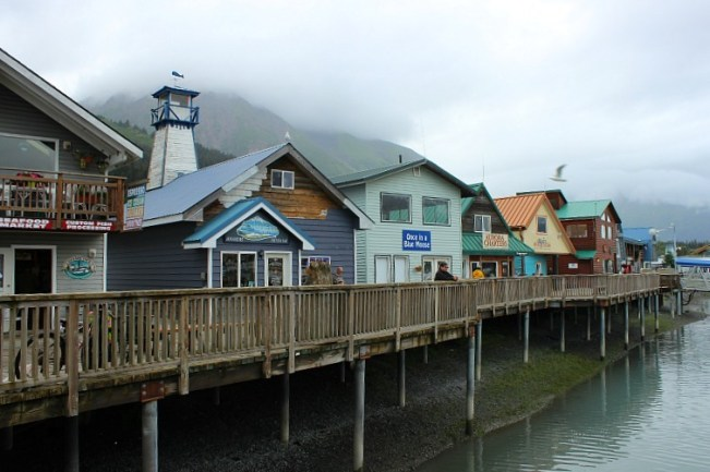 Small Boat Harbour in Seward Alaska