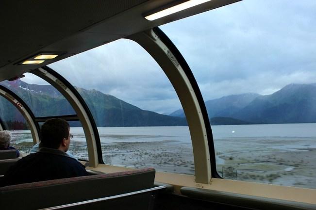 View from the Alaska Railroad to Seward Alaska