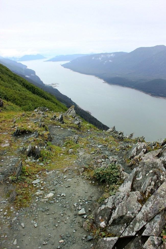 Gastineau Channel views from Mt Roberts Alaska